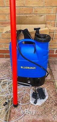 25ft Nettoyage De Vitres D'eau Fed Pole. Tuyau Et La Tête De Brosse Nouveau Blueman 20 Sac À Dos