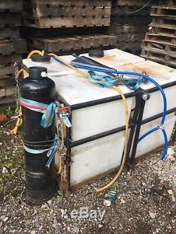 2 X 350 Ltr Vertical Baffled Voiture Valeting Nettoyage De Vitres Réservoirs D'eau