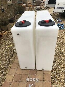 2 X 350l Litre Debout Nettoyage De Fenêtre De Réservoir D'eau En Plastique