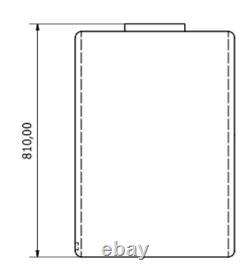 300l Litre D-shape Réservoir De Stockage D'eau En Plastique Valeting Window Cleaning Camping