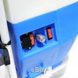 30 Pi Télescopique À Alimentation En Eau Et Système De Chariot De Nettoyage De Vitres De Réservoirs De Pulvérisation De 20 Litres