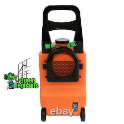 30ft Télescopique Eau Fed Nettoyage Pole + 30l Réservoir D'eau Fenêtre Chariot De Nettoyage