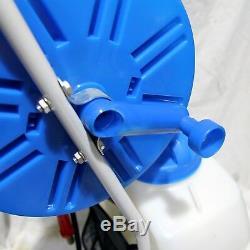 30ft Télescopique Eau Fed Pole Raclette Et 45l Réservoir De Pulvérisation Chariot De Nettoyage De Vitres