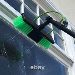30ft Window Cleaning Pole Télescopique Eau Fed Brosse Légère À Tête Squeegee