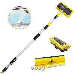 3m (9ft) Extension De L'eau Télécopique Car Bus Home Window Wash Brush Cleaner
