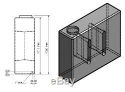400l Litres Vertical Plastique Réservoir D'eau Valeting Nettoyage De Vitres Camping