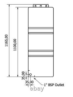 460l Litre Droit Réservoir De Stockage D'eau En Plastique Valeting Fenêtre De Nettoyage Camping