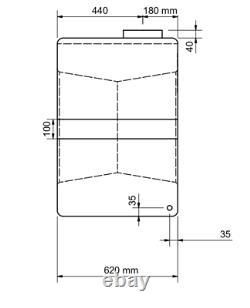 500l Litres Vertical Plastique Réservoir D'eau Valeting Nettoyage De Vitres Camping
