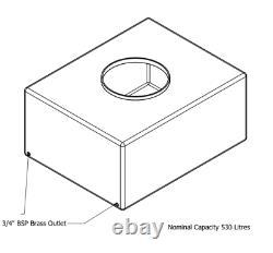 530l Litre Bowser Réservoir De Stockage D'eau En Plastique Valeting Window Cleaning Camping