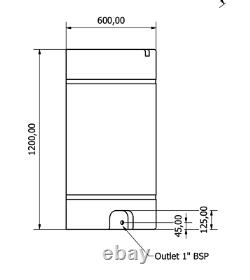 550l Litre Réservoir De Stockage D'eau En Plastique Valeting Fenêtre De Nettoyage Camping