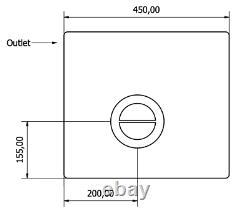 65l Litre Réservoir De Stockage D'eau En Plastique Valeting Fenêtre De Nettoyage Camping