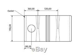 800l Litres Vertical Plastique Réservoir D'eau Valeting Nettoyage De Vitres Camping