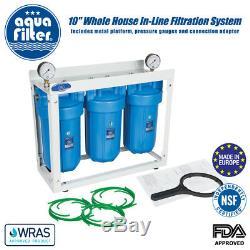 Aquafilter 10 Big Blue Haute Efficacité À 3 Étages Pléniers Eau Système De Filtration