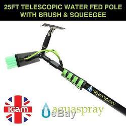 Aquaspray 25ft Télescopique Eau Fed Pole Nettoyage Légère Fenêtre Raclette