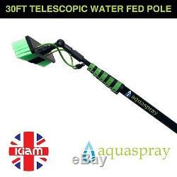 Aquaspray 30ft Jet D'eau Léger De Nettoyage De Vitres De Polonais Alimenté À L'eau Télescopique