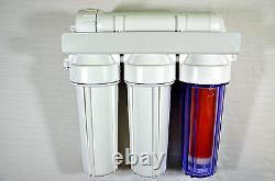 Filtre À Osmose Inverse 4 Étapes Avec Chambre À Résine DI 50/75/100/150/200/300 Gpd