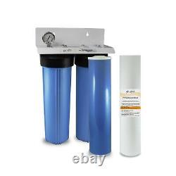 Max Water 20 Bb Système De Filtration D'adoucissement D'eau Pré-autodétaillé En 2 Étapes