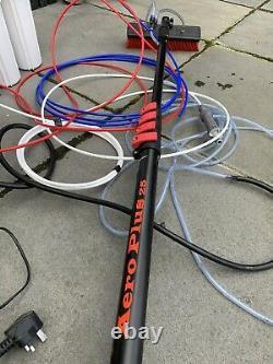 Nettoyage Des Fenêtres 25 Ft Pole & 16lt Pump Fed Water Trolley Kit Plus Ro Unit DI