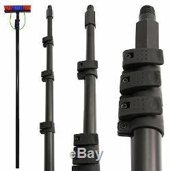 Nettoyage Des Vitres Pole 30ft Et Brosse Extensible Télescopique Pour Sac À Dos