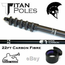 Nouveau Eau Genie Titan En Fibre De Carbone Nettoyage Fenêtre Pôle Passage D'eau 22-60ft Pam