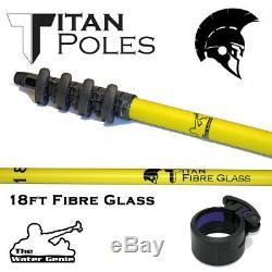 Nouveau Eau Genie Titan En Fibre De Verre Pole 18-40ft Fenêtre Passage D'eau De Nettoyage Du Pam