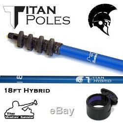 Nouveau Eau Genie Titan Hybride Nettoyage Fenêtre Pole Passage D'eau 18-27ft Pam