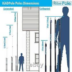 Pôle D'extension Igadpole, Pinceau Alimenté À L'eau, Duster Cobweb Et Squeegee