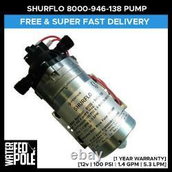 Pompe Schurflo 100psi 5.2lpm Pour Les Systèmes De Poteaux Alimentés À L'eau