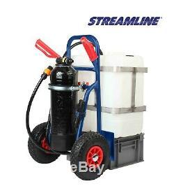 Streamline 50 Litres Chariot Kit Pour Pure Nettoyage De Vitres Eau, Pôle De 25 Pieds Et Brosse