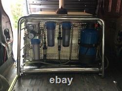 Système De Nettoyage De Fenêtre De Poteau Alimenté Par L'eau