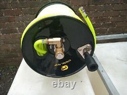 Système De Nettoyage De Fenêtre Pump Controller Tank Hose Reel 650 Litres. Poteau Alimenté Par L'eau