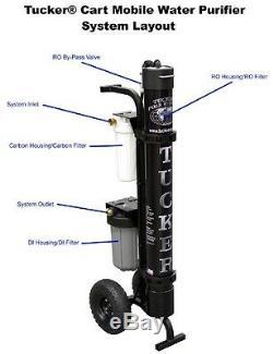 Tucker Pôle Systèmes À 3 Étages Ro / DI Purificateur D'eau Mobile Panier