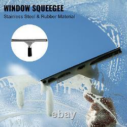 Vevor Kit Poteau De L'eau Brosse De L'eau 24 Ft 3-en-1 Nettoyage De Fenêtre Extensible