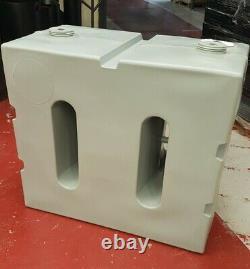 Wydale 800 Litres Réservoir D'eau Droite Grey 2 Couvercles
